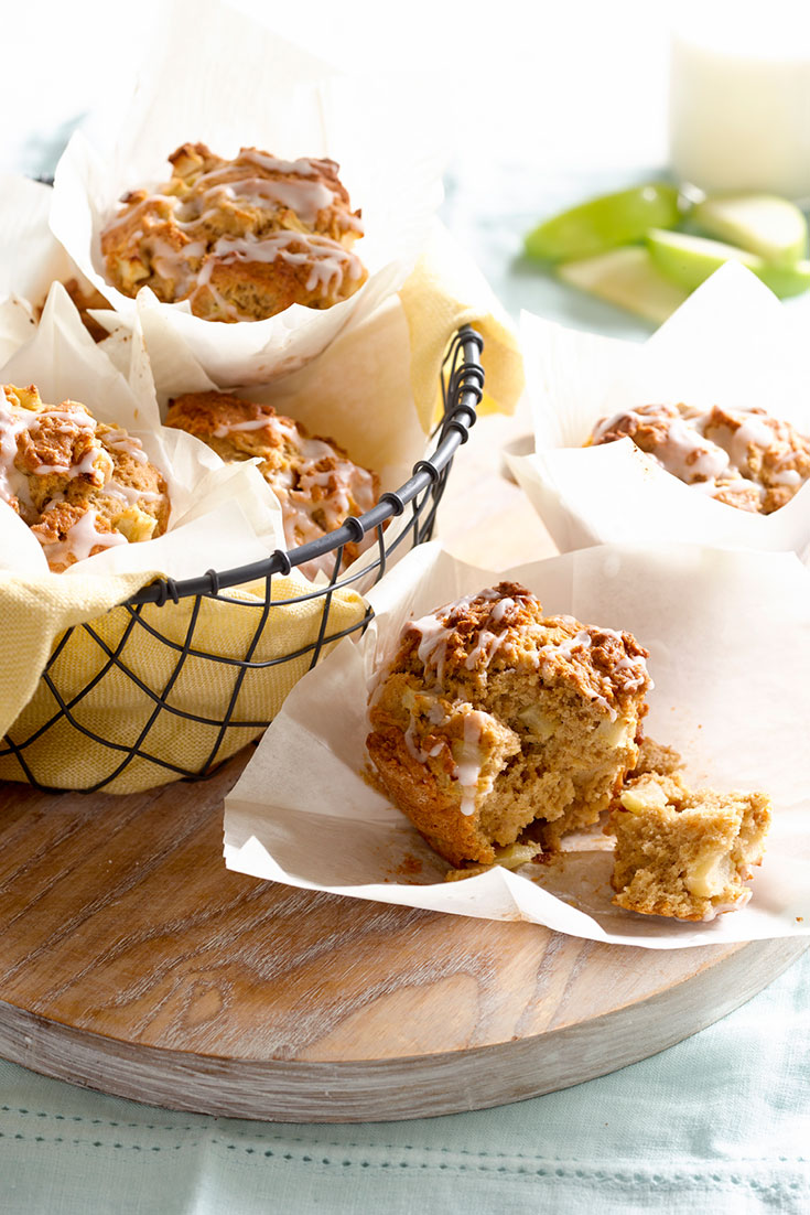 These easy apple and cinnamon muffins are the perfect quick dessert or snack idea using baked fruit.
