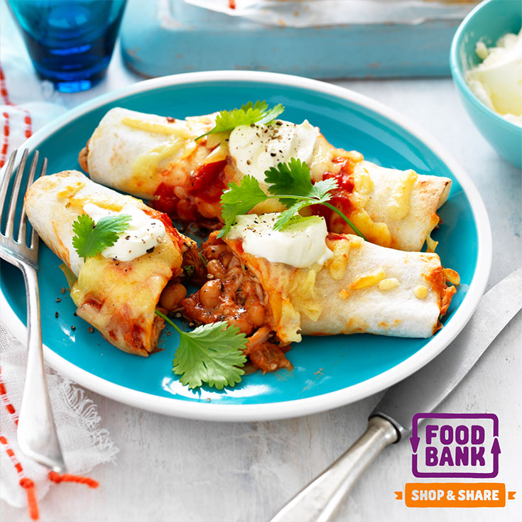 This scrumptious baked bean and chicken enchiladas recipe is the perfect family dinner idea for busy weeknights.