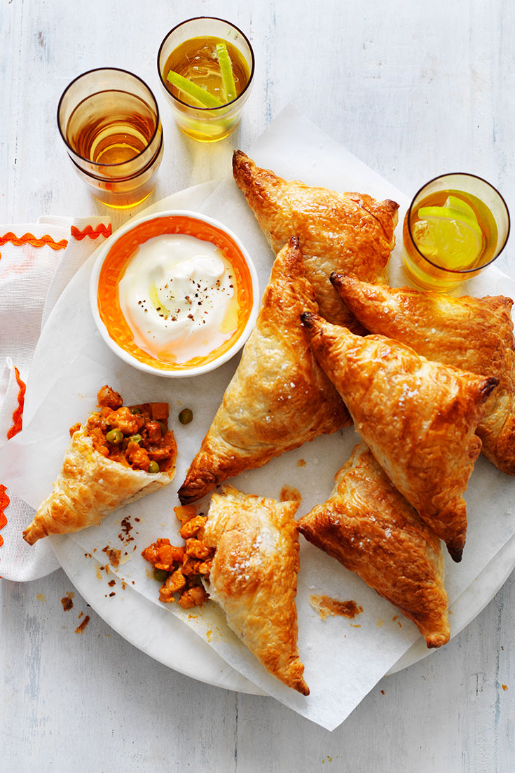 This extremely delicious butter chicken samosas recipe is the perfect finger food idea to keep your guests satisfied until the main meal.