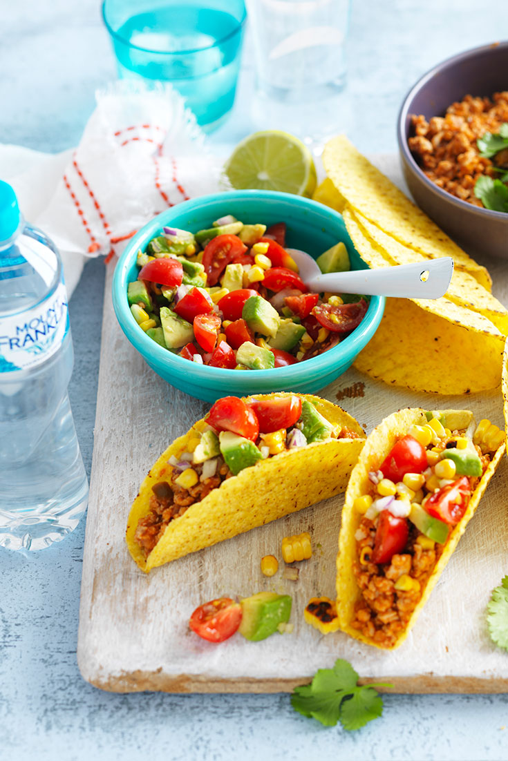 This fun fiesta chicken and fresh salsa taco recipe is the perfect entertaining meal to please the guests.