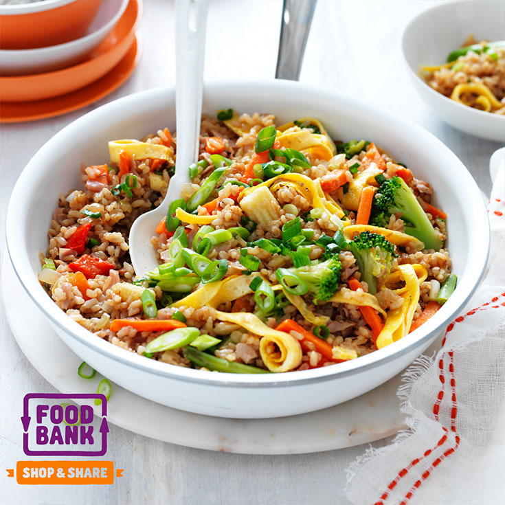 This easy family friendly fried rice recipe is sure to be a hit amongst the family and become a weekly dinner idea.