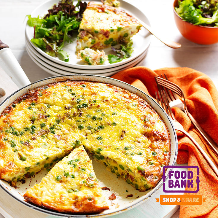 This easy pea, leek and bacon frittata recipe is quick and delicious and easy to serve up for a family meal.