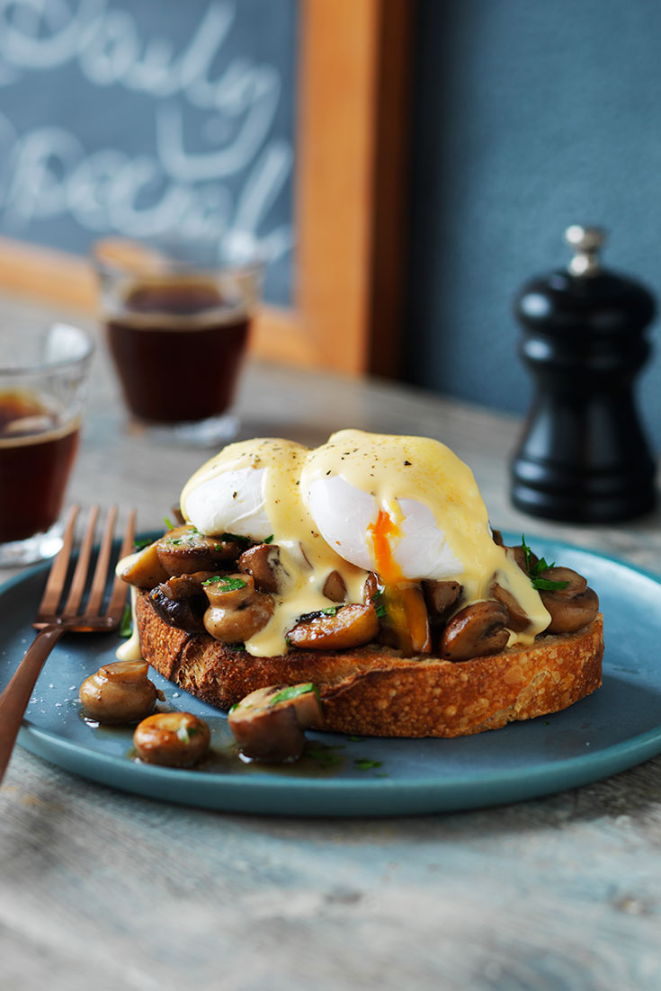 This delicious mushrooms and poached eggs on sourdough recipe is the perfect idea for a cafe style breakfast at home.