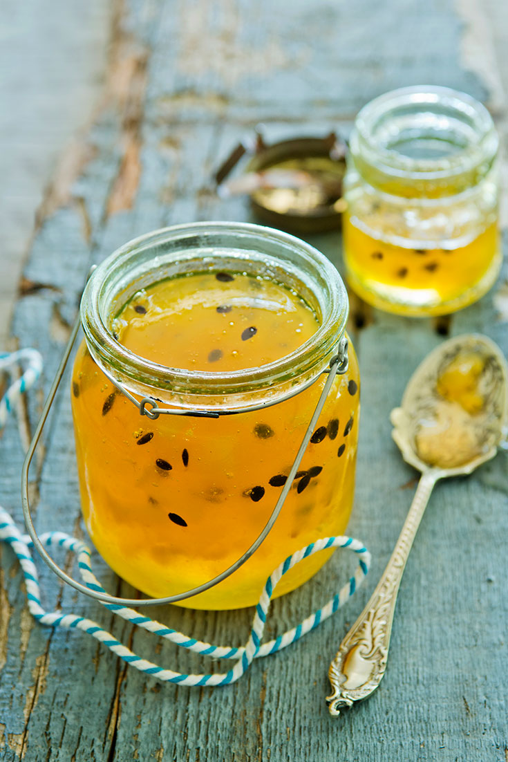 This stunning pear and passionfruit jam will be a lovely surprise for your hosts when you were told not to bring a thing.