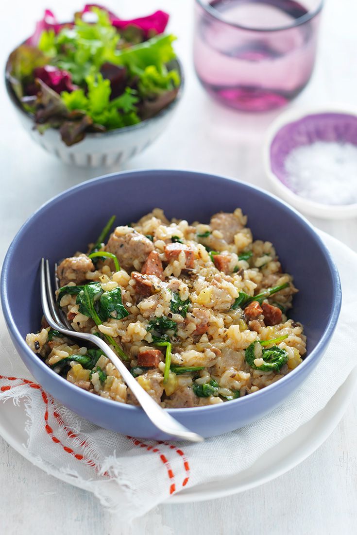 This easy sausage and rice bake recipe is the perfect rice recipe for an easy dinner idea.