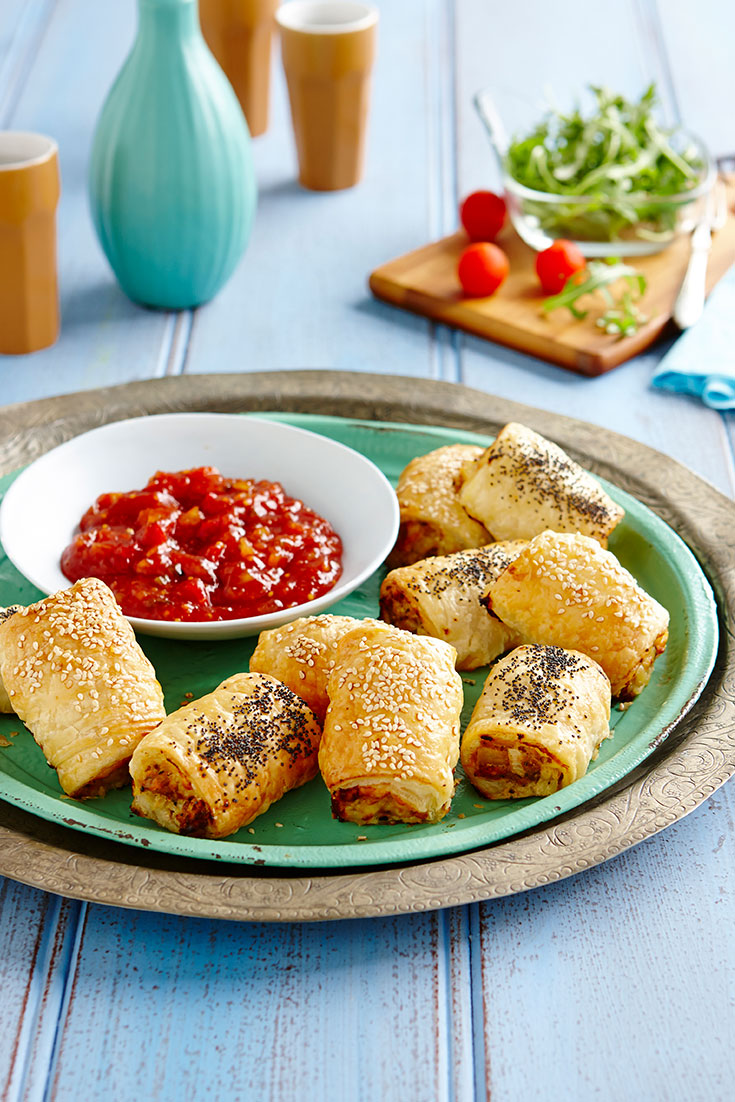 These easy cheddar sausage rolls will be your back up when you don't want to turn up empty handed.