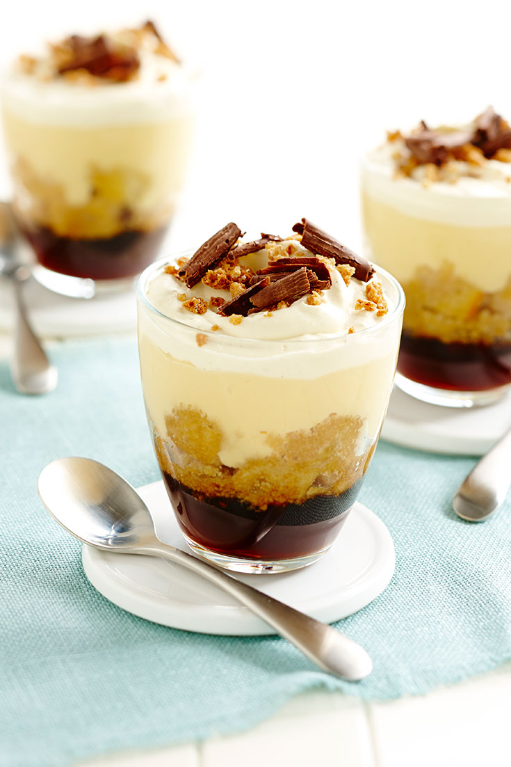 This delcious individual espresso trifle recipe is perfect for dad's who love their coffee.