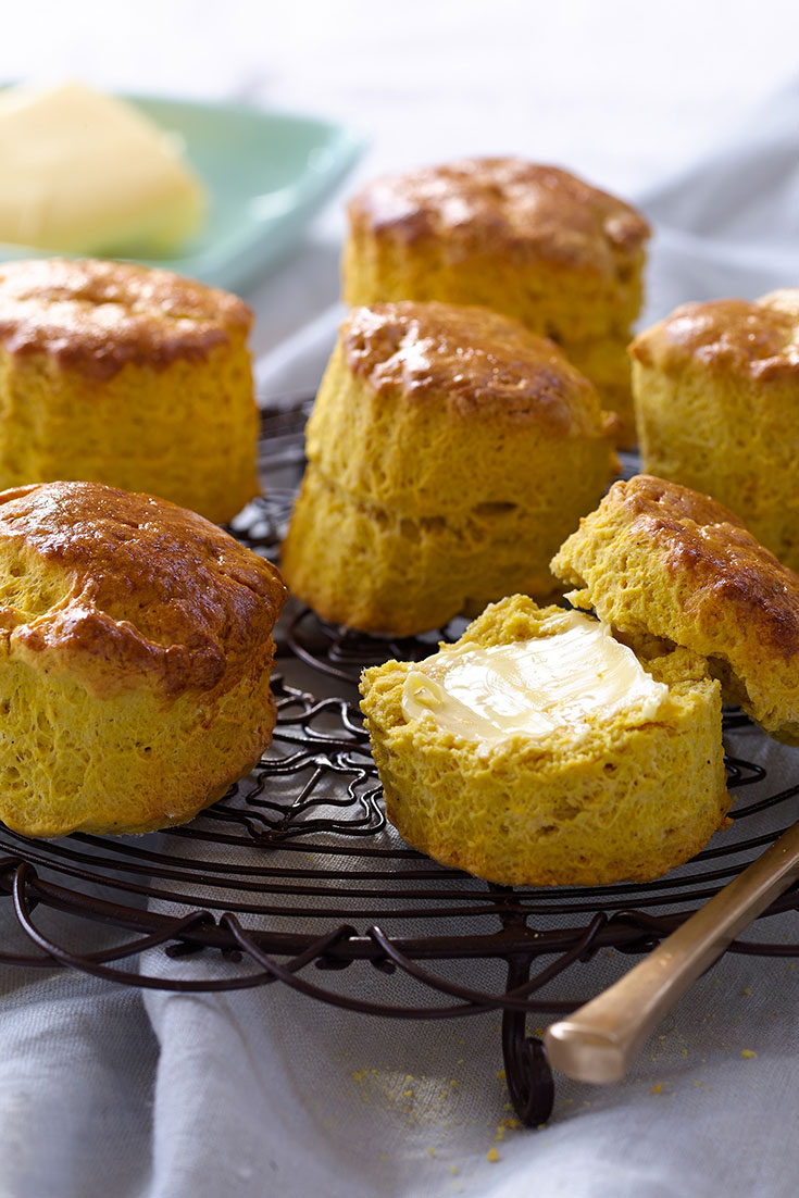 This easy pumpkin scones recipe is the ultimate winter treat. Perfect for afternoon tea.