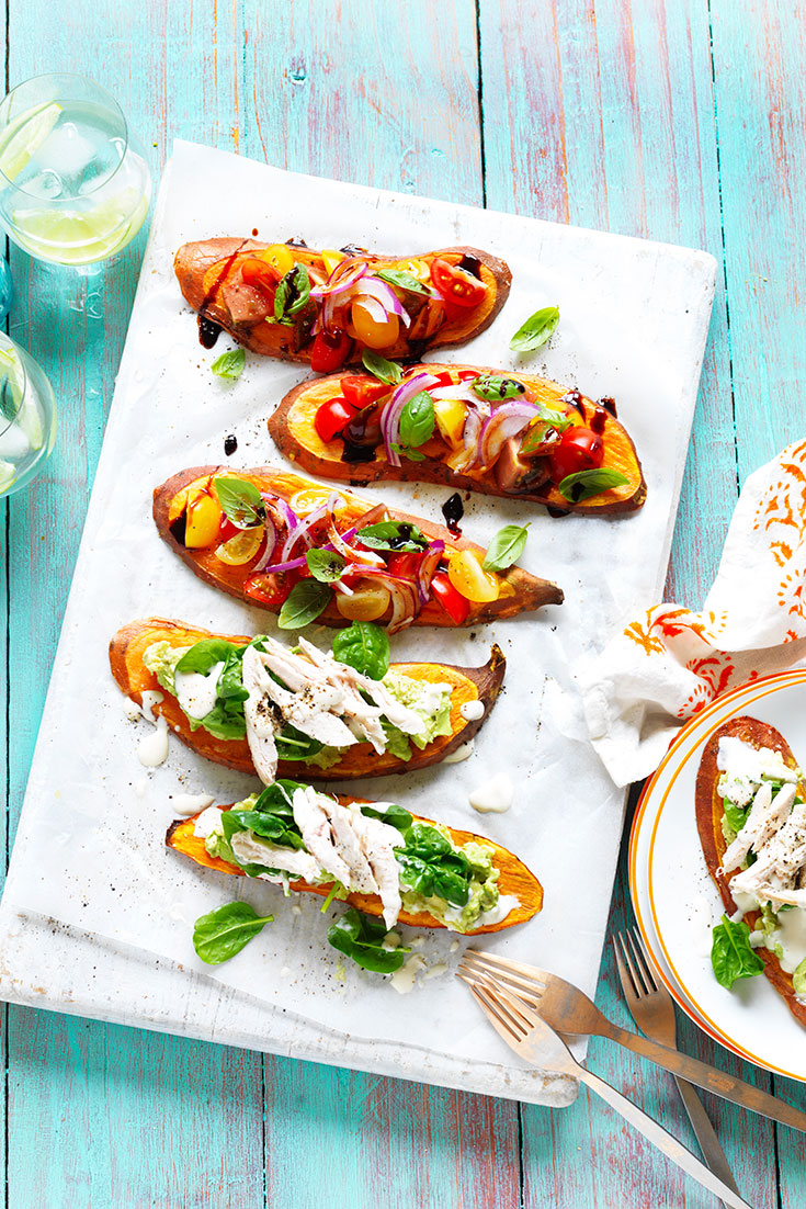 These easy sweet potato toast toppers make for an quick and delicious lunch idea or afternoon snack.
