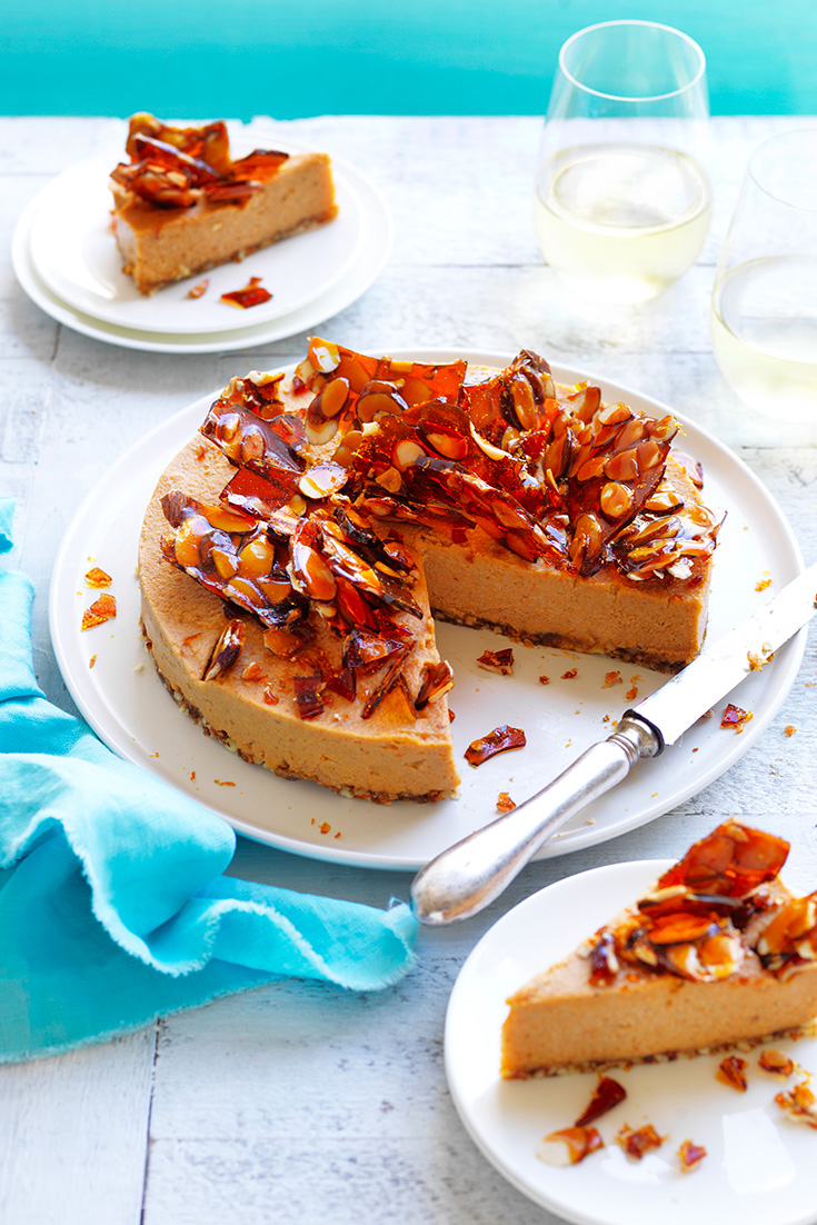 This stunning sweet potato vegan cheesecake is a delicious dessert for anyone looking to experiment with ingredient substitutes.