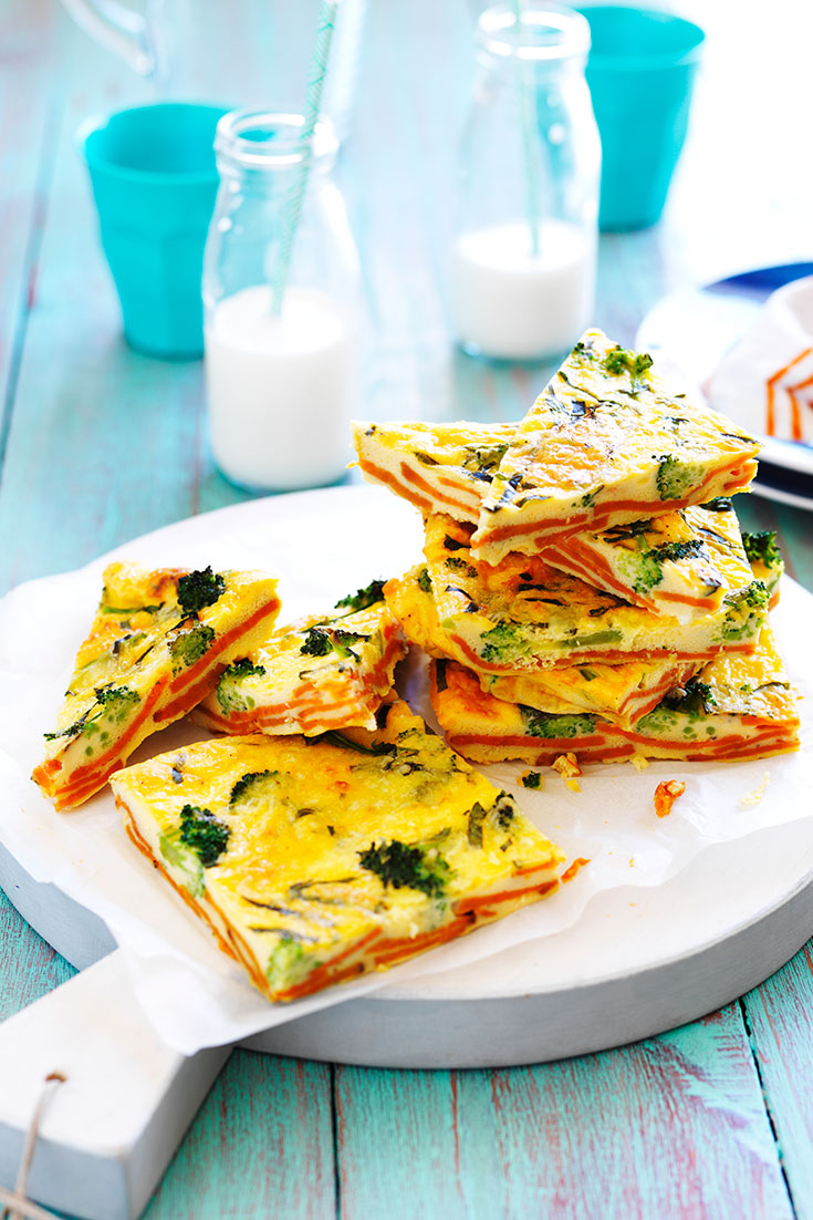 This easy sweet potato and broccoli frittata is so quick and easy, you can enjoy hot or cold.