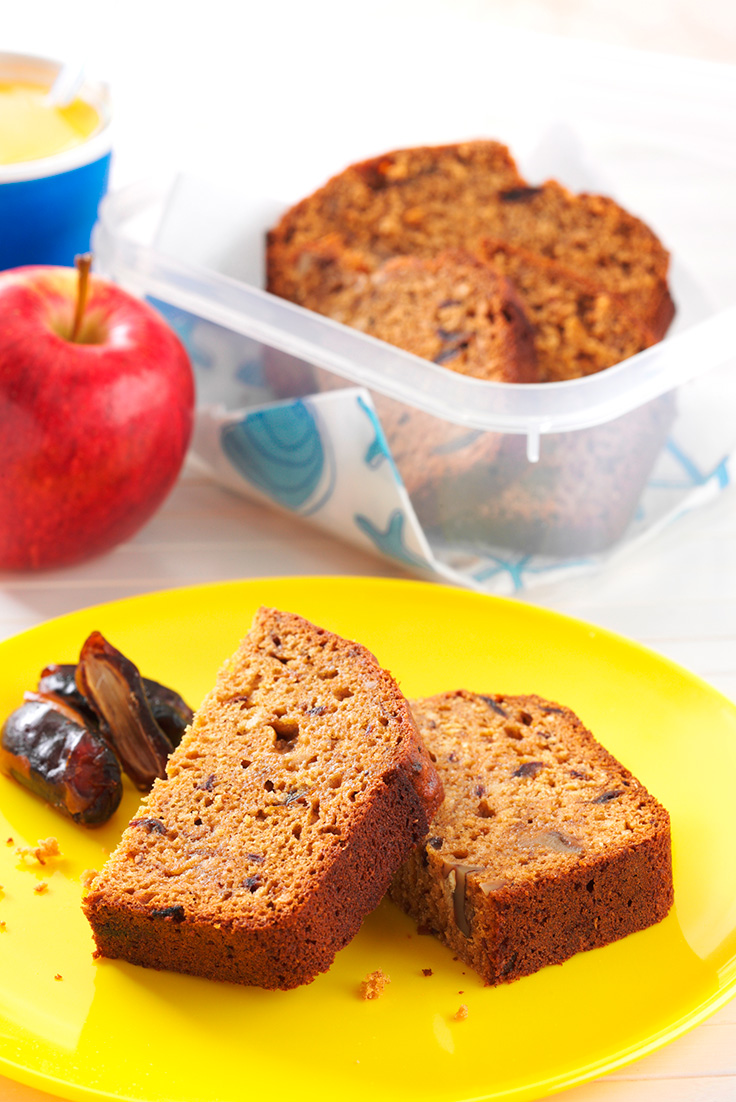 This delicious wholemeal date and walnut loaf can't be complete without wholemeal flour. A super quick and easy loaf.