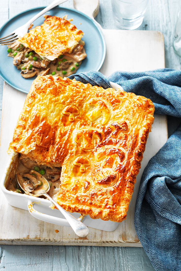 This easy chicken and mushroom pie is the perfect family dinner idea.