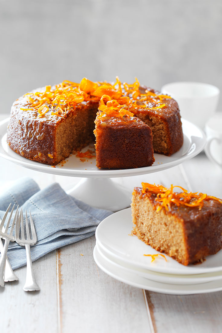 This easy marmalade and almond tea cake recipe is the perfect dessert of morning tea.