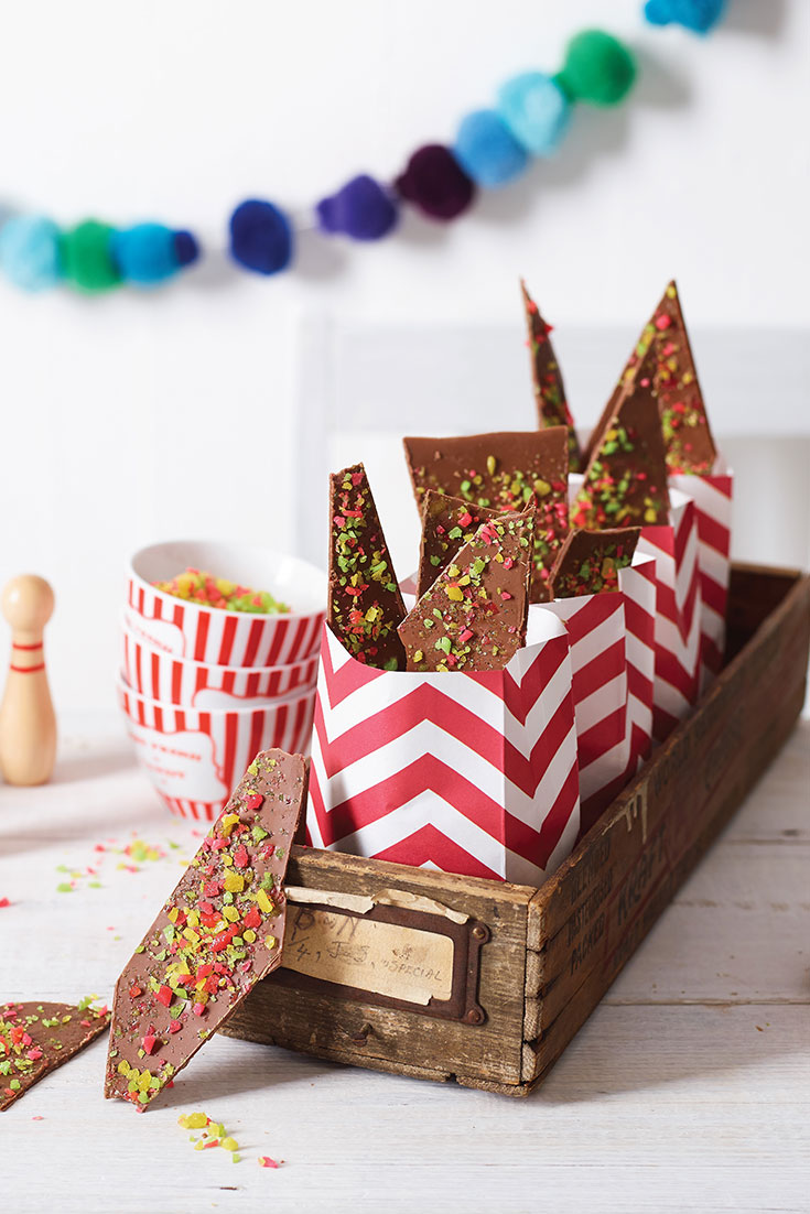 This fun popping candy bar recipe is a great dish to serve at a kids party.