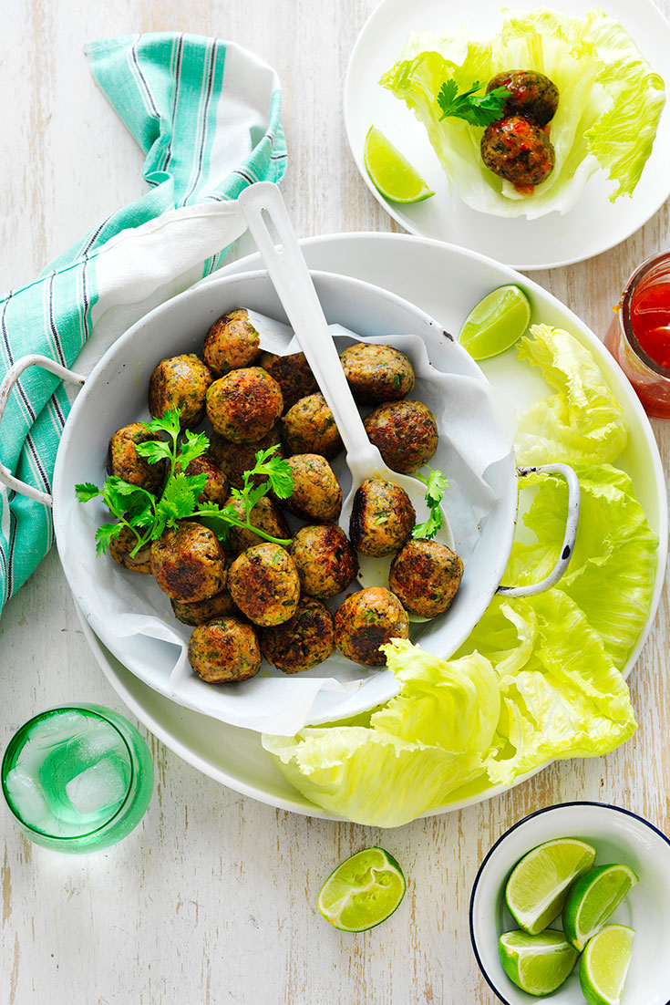 This easy Thai pork and mushroom meatballs recipe is an easy and quick recipe for leftover mince.