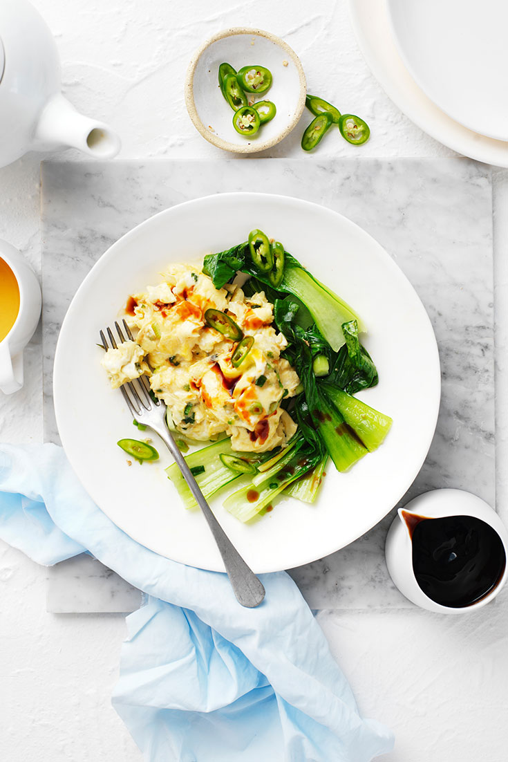 This tasty asian style scrambled eggs recipe is quick and tasty and will kick start your day.