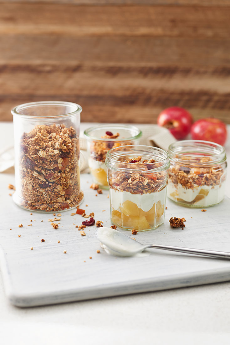 This quick and easy peanut butter granola recipe is great paired with yoghurt and some berries.