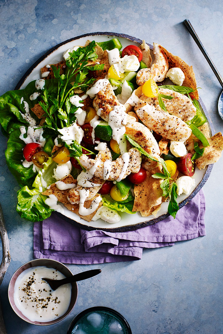 This tasty fattoush and chicken warm salad recipe will taste even better when you learn how keep salad fresh all week.