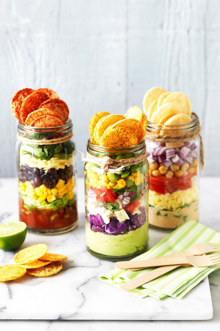 This easy healthy nachos in a jar: jarchos recipe is the perfect no-bake recipe for easy weeknight eating.