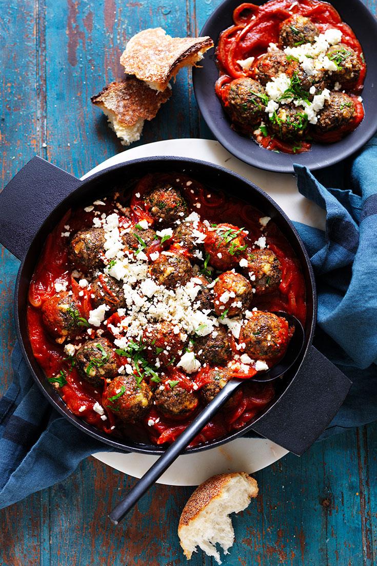 Veggie delight: ricotta and mushroom meatballs ...