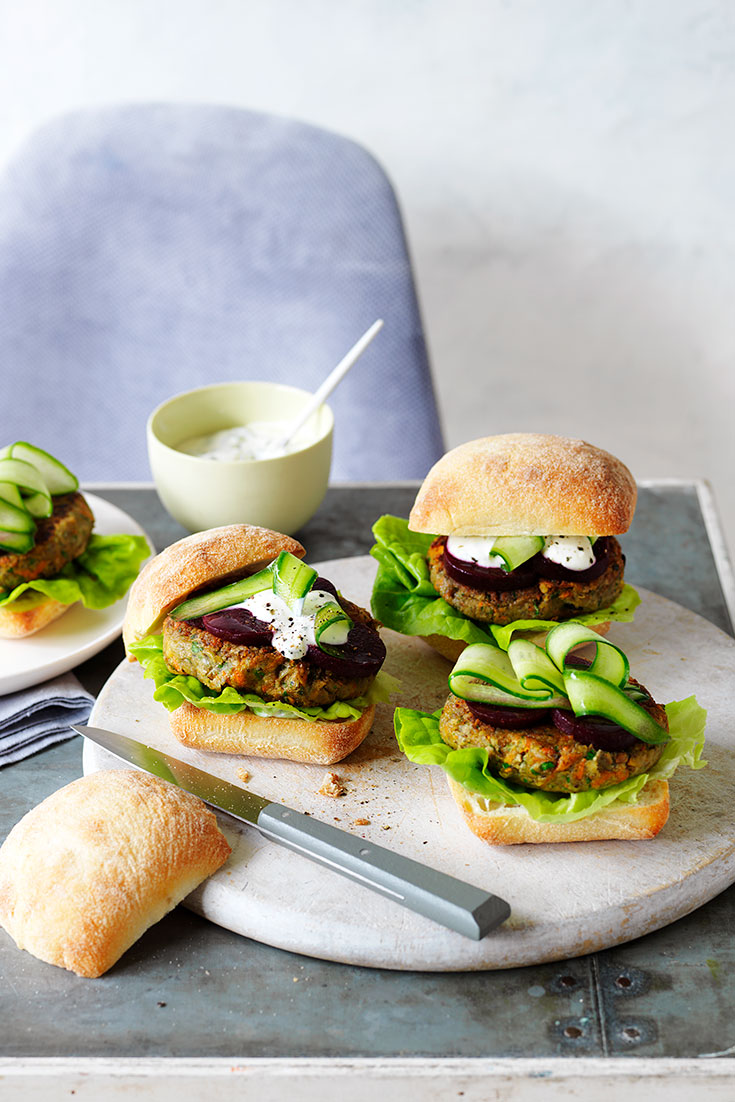 This easy mushroom veggie burger recipe is a great dinner or lunch idea for vegetarians.