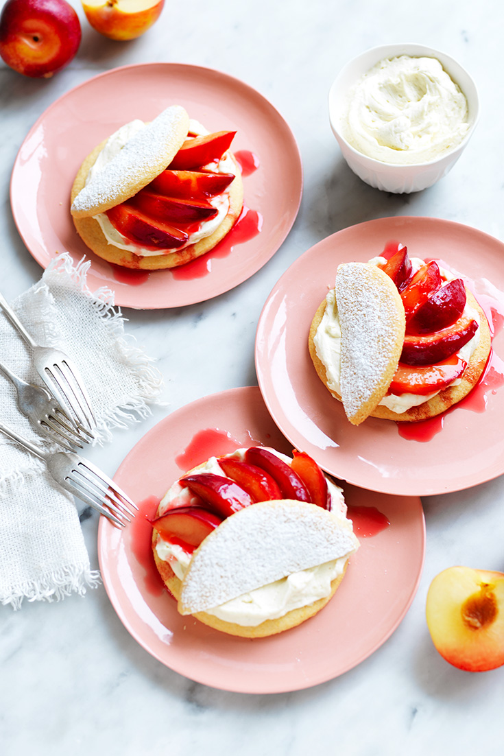 This easy plum shortcakes recipe is a great dessert idea for entertaining.