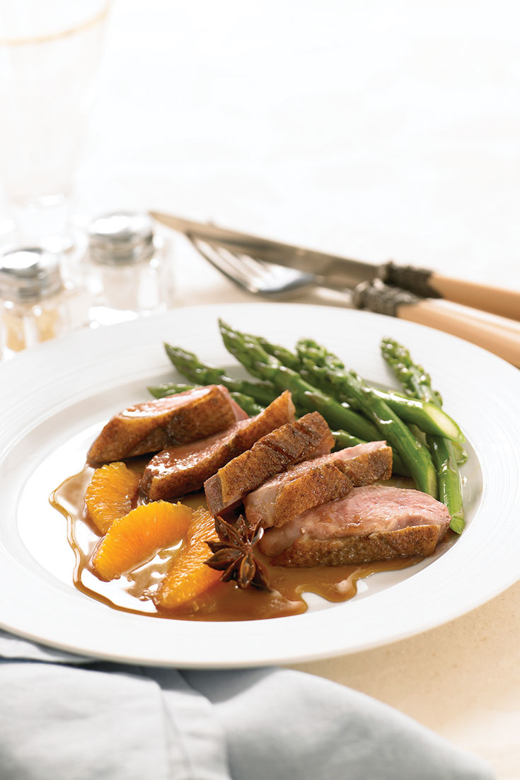 This delicious duck with spiced citrus sauce is another great Christmas main dish idea.