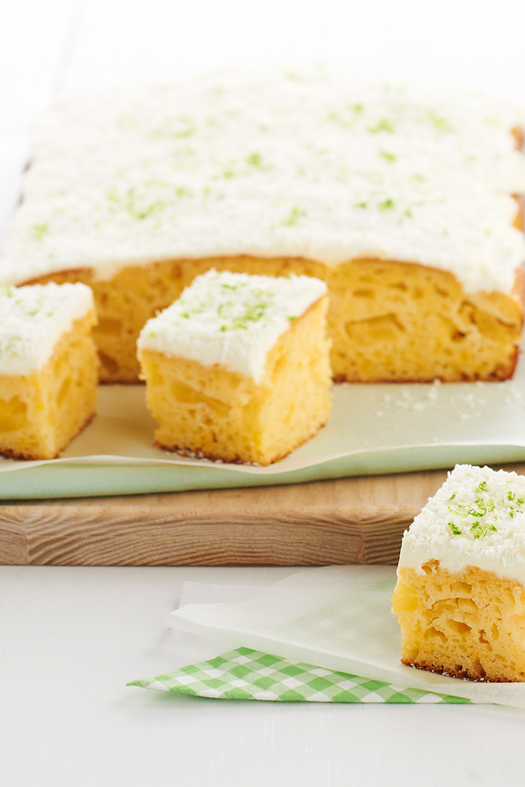 This easy and delicious pineapple and lime slice recipe is the perfect afternoon treat.