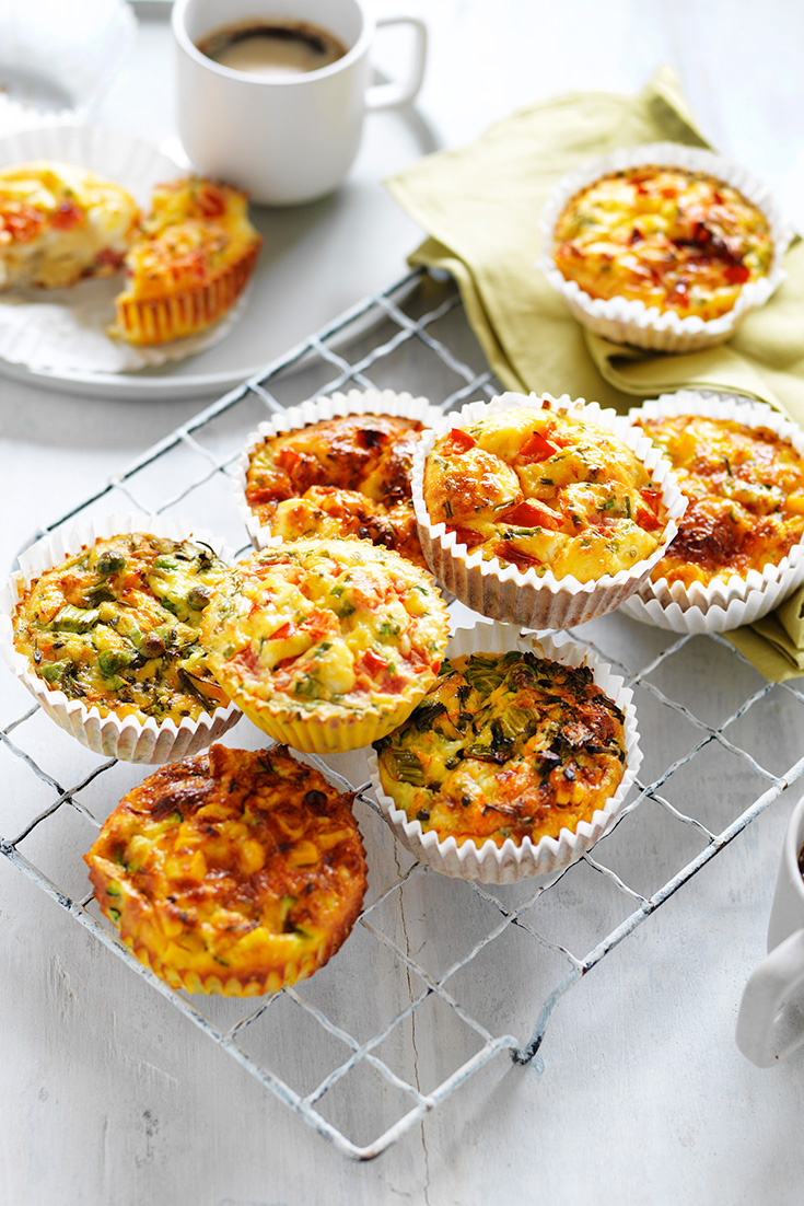 This easy egg muffin recipe can be enjoyed 3 different ways. These muffins are the perfect picnic food.