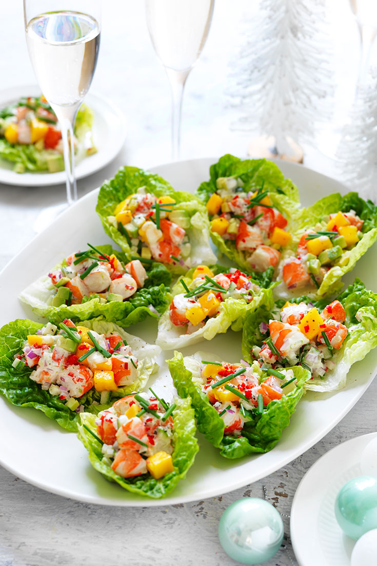 This easy avocado, mango and chilli prawn cups recipe is a light and easy starter recipe perfect for Christmas Day.