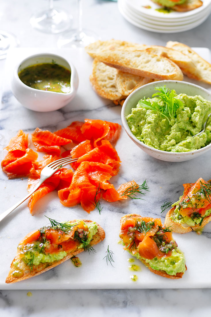 This easy smoked salmon on avocado with special dressing recipe is a great easy dinner idea for when it's too hot.