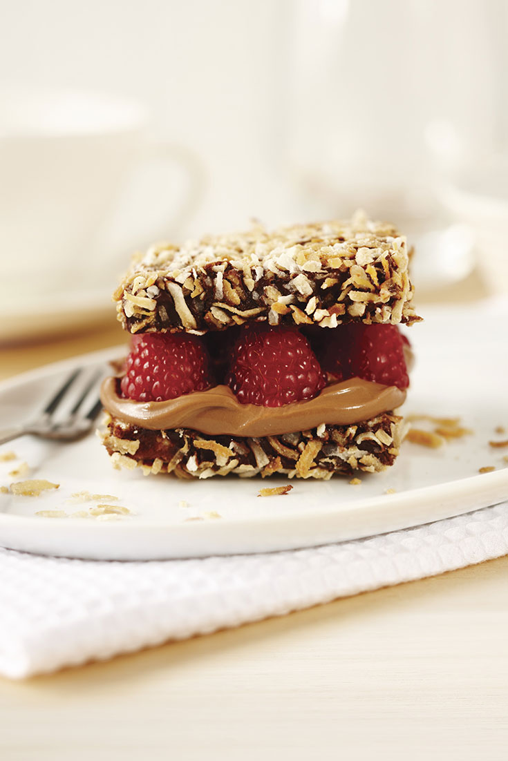 This delicious raspberry and chocolate lamington recipe will certainly impress all guests.