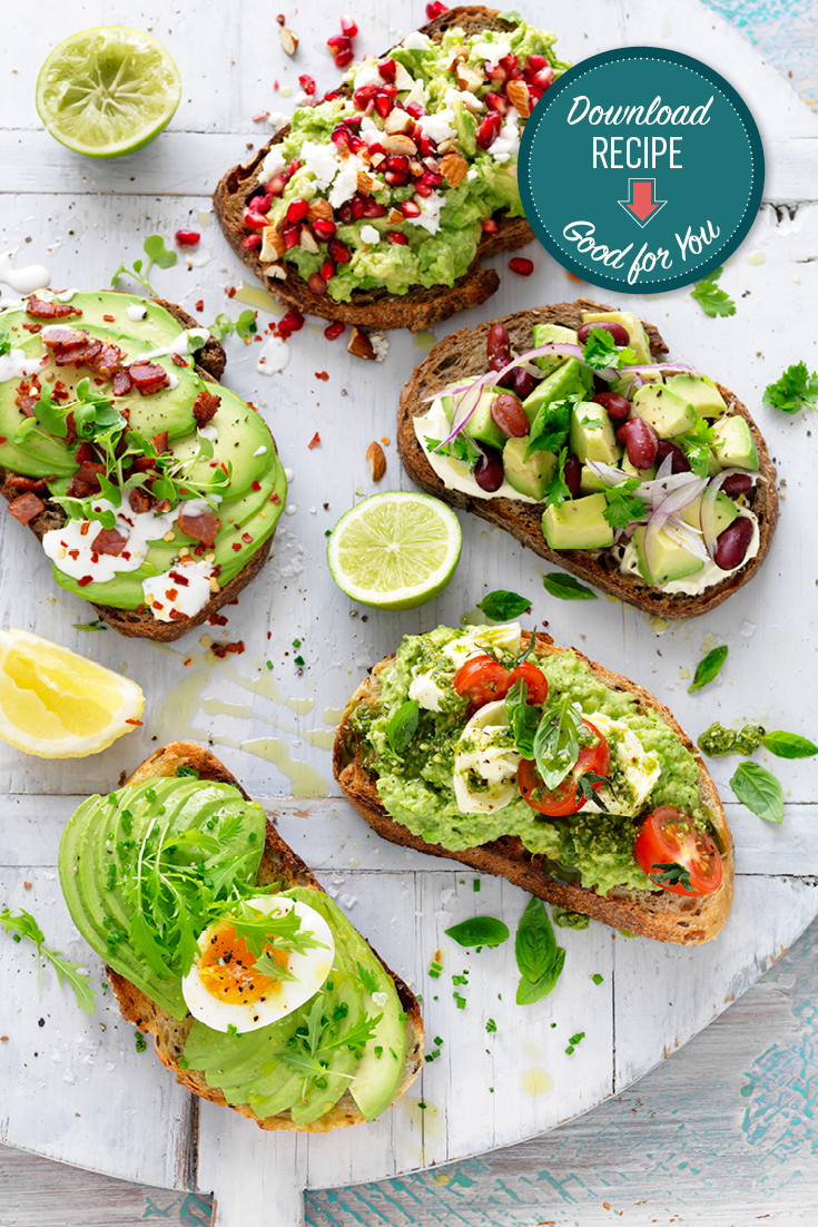 This quick and easy avocado on toast recipe can be enjoyed 5 ways. This easy avo dish can be enjoyed for breakfast or lunch.