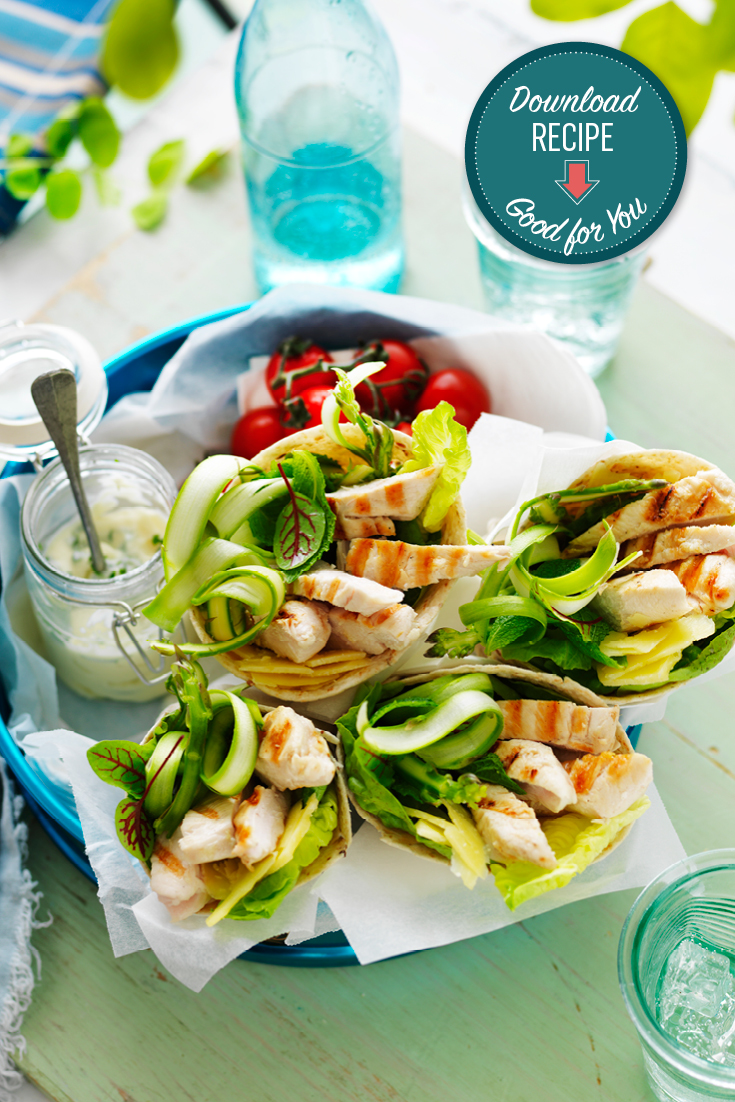 This delicious chicken, mint and asparagus wraps recipe is the perfect dish to enjoy on-the-go or is great as a make-ahead lunch idea.