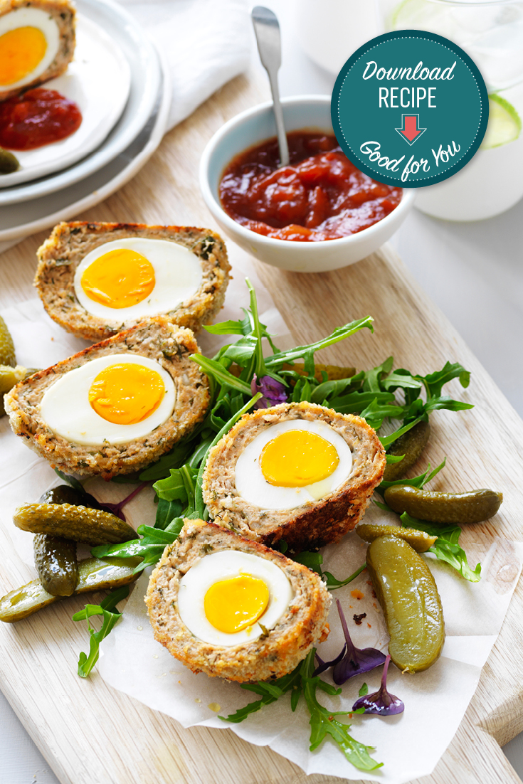 This easy chicken scotch eggs recipe is a great dinner idea or lunch.