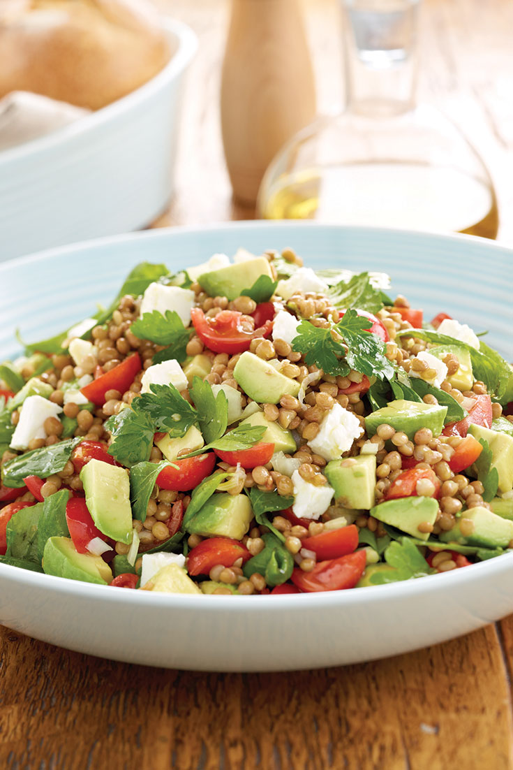 This quick and easy avocado lentil salad is a great vegetarian salad which can be enjoy for lunch or dinner.
