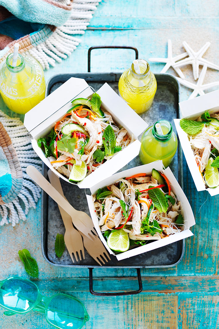 This easy Vietnamese chicken salad recipe is perfect for an on-the-go lunch or for meal prep.