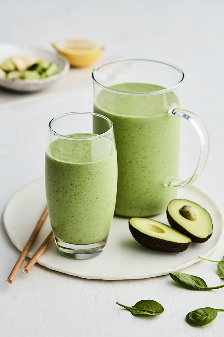 Why not drink your greens for breakfast. This easy avocado green smoothie recipe is ideal for an on-the-go breakfast. And features a whole cucumber