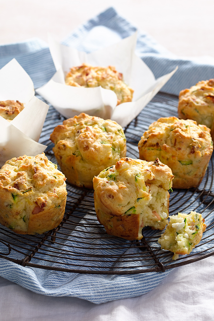 This bacon, feta and zucchini muffin recipe is the perfect snack or lunch box recipe.