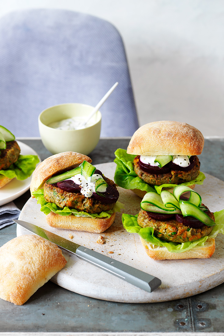 This easy mushroom veggie burger recipe is an ideal family dinner idea for busy weeks.