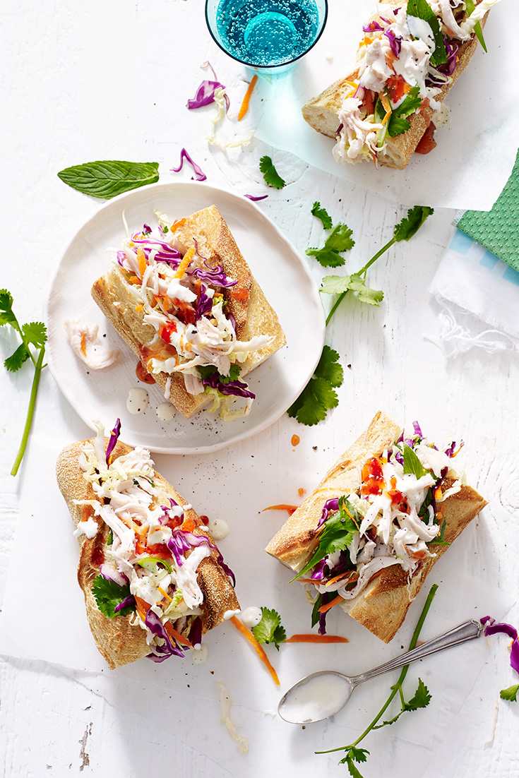 This easy chicken baguette recipe is the perfect lunch to enjoy at work or outside.