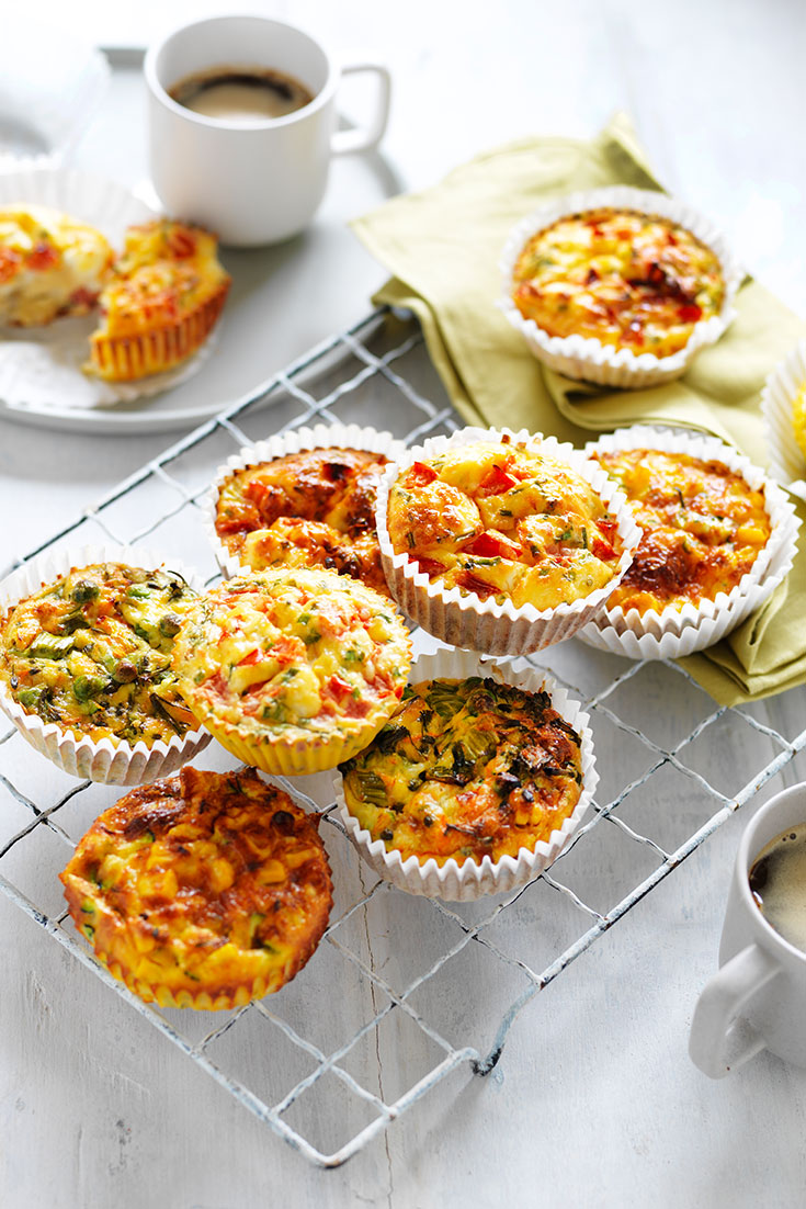 This extremely popular egg muffins recipe can be enjoyed with three different flavours and are ideal for freezing.