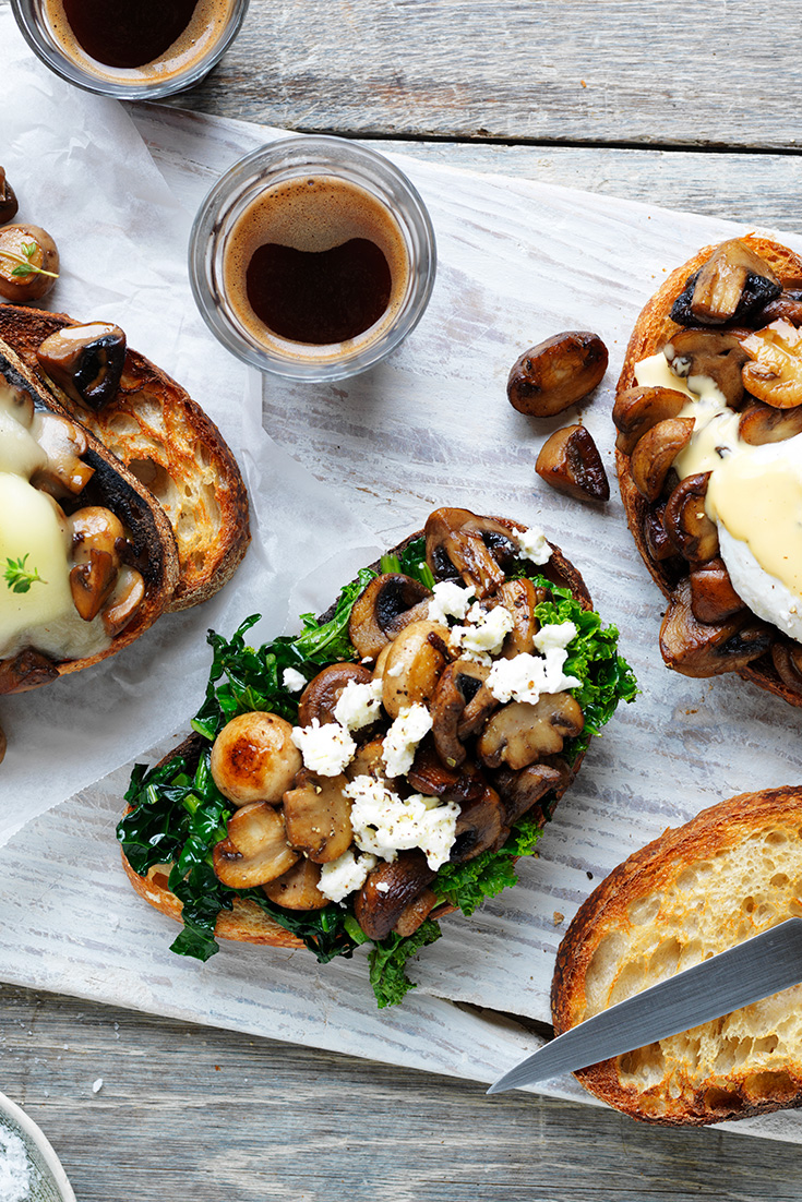 This easy sautéed mushrooms on sourdough recipe is the ideal family breakfast idea.