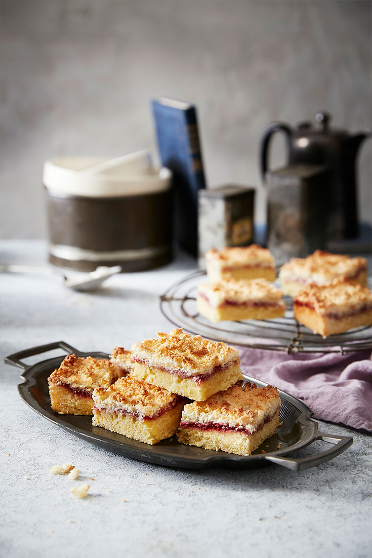 This easy raspberry and coconut slice recipe is a sweet treat that the kids will love.