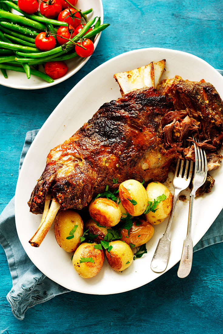 This delectable slow roasted lamb recipe is a fabulous meal for Valentine's Day.