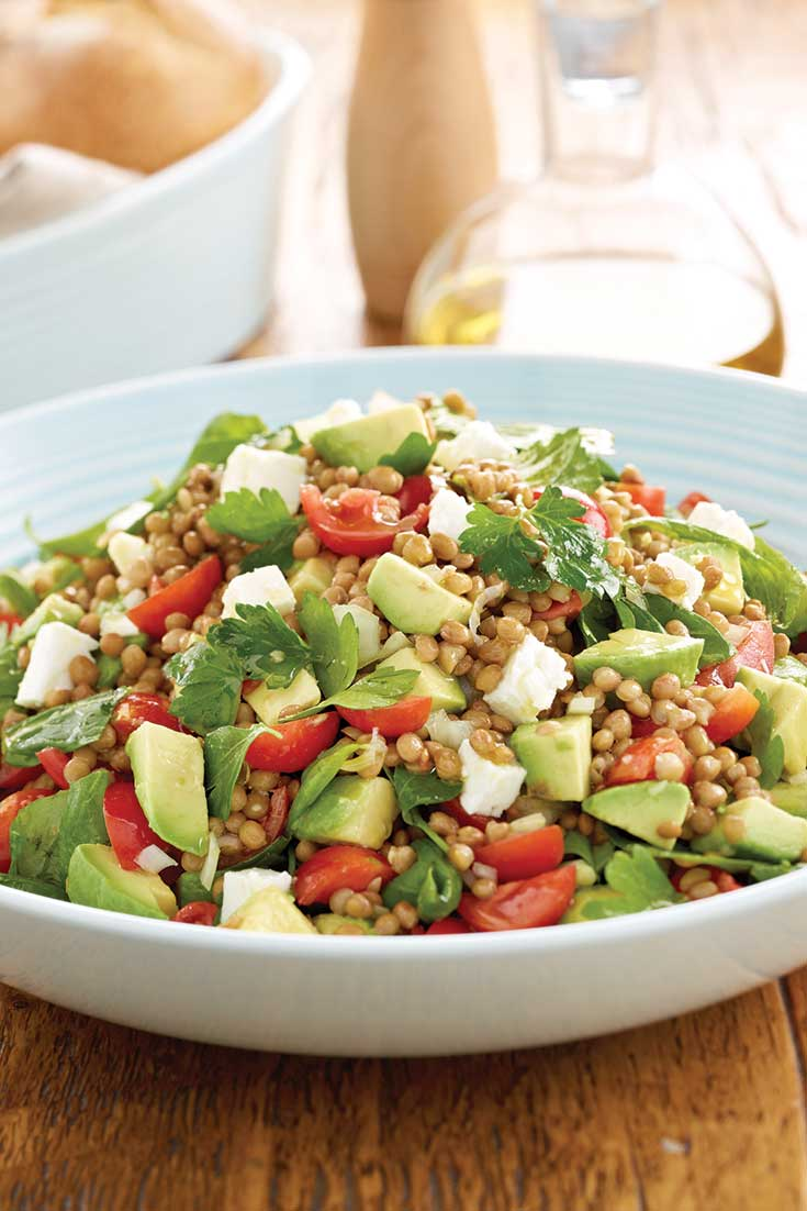 This fresh avocado lentil salad is the ultimate side salad for any barbecue or dinner party.