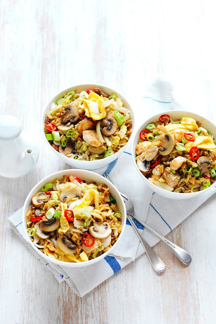 This quick and easy mushroom fried rice recipe is the perfect recipe to use up leftover rice.