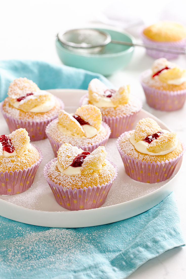 These easy vanilla butterfly cakes are perfect for a kids party treat.