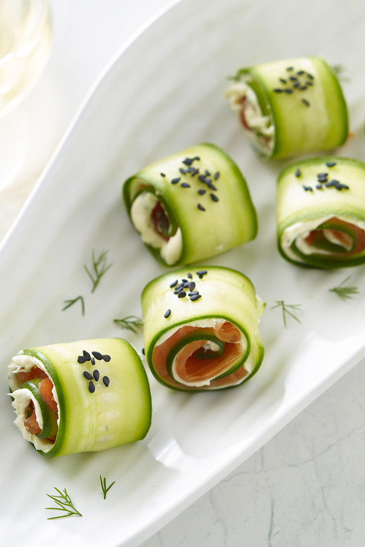 This quick and easy salmon rolls recipe is a fresh and light appetiser.